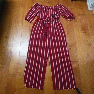 Haute Monde Red and White striped Jumper XL